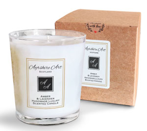 Scented Candle - Amber & Lavender