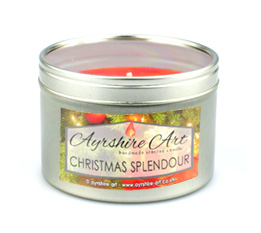 Candle Tin - Christmas Splendour
