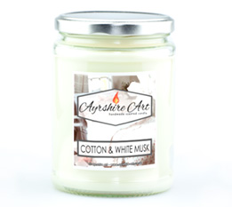 Large Candle Jar - Cotton & White Musk