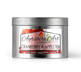 Candle Tin - Cranberry & Apple Tea