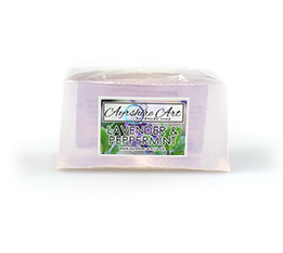 Lavender & Peppermint Essential Soap Slice