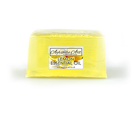 Lemon Essential Oil Soap Slice