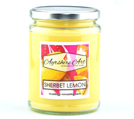 Large Candle Jar - Sherbet Lemon