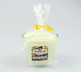 Small Scented Jar Candle - Citrus and Sage
