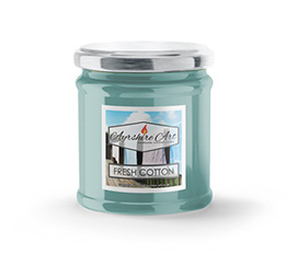 Small Scented Jar Candle - Fresh Cotton