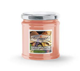 Small Scented Jar Candle - Leather & Patchouli