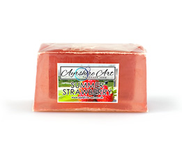 Summer Strawberry Soap Slice